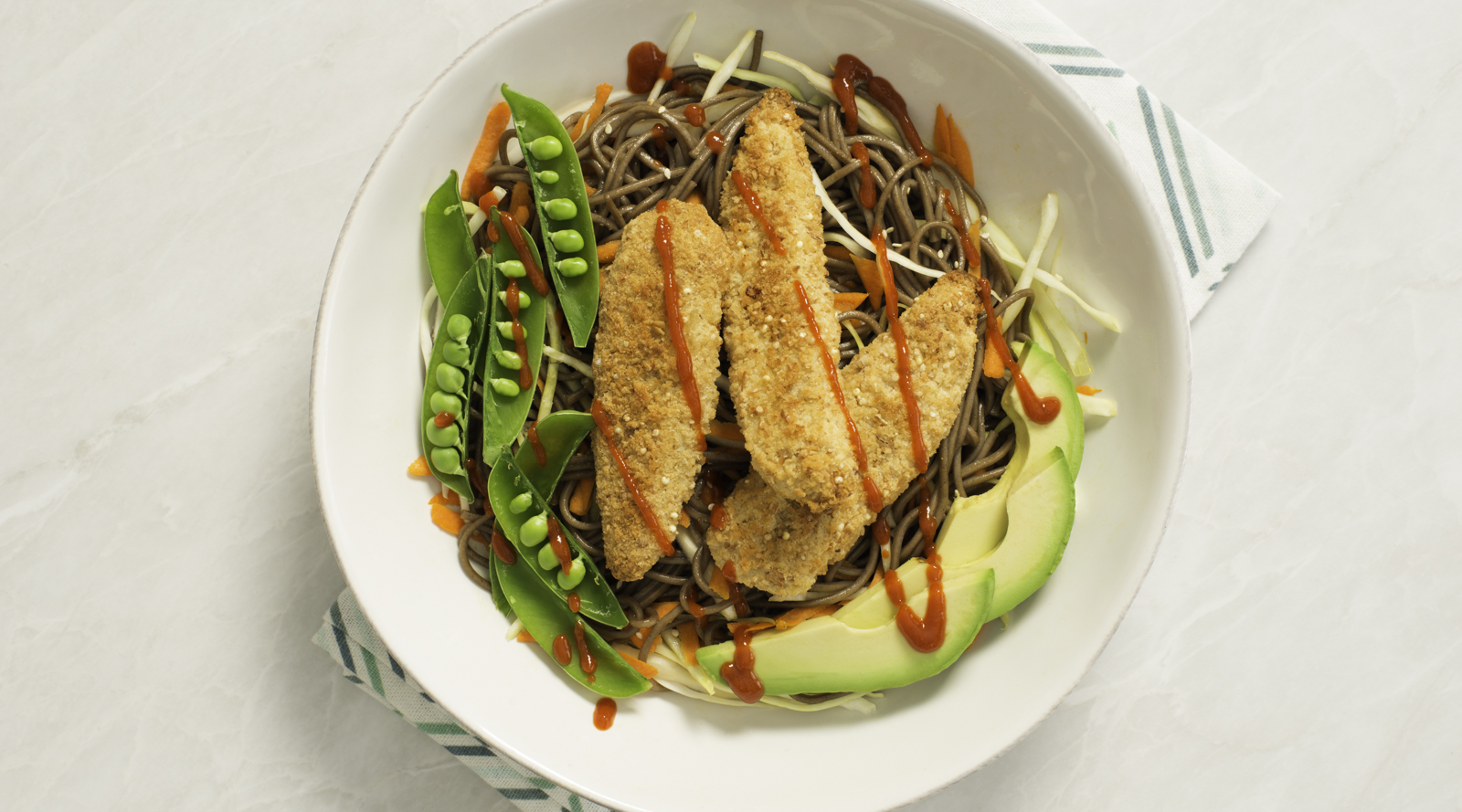 Ancient Grains Turkey Strips with Sesame Soba Noodles