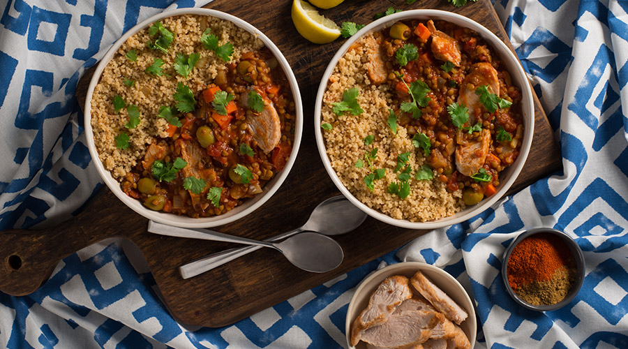 Easy Moroccan Turkey and Lentil Stew