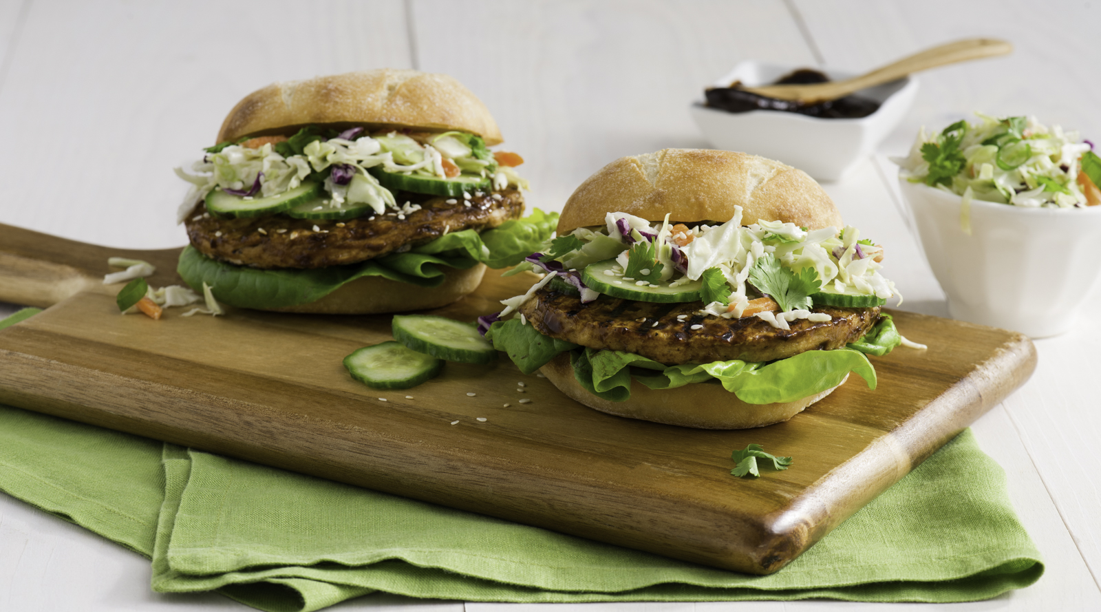 Hoisin Glazed Turkey Burgers