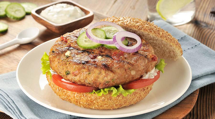 Hamburger à la dinde de Santorin