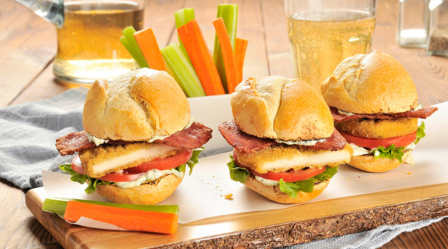 Turkey Club Sliders with Lemon Basil Mayo