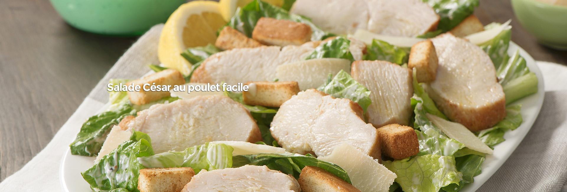 Salade César au poulet facile