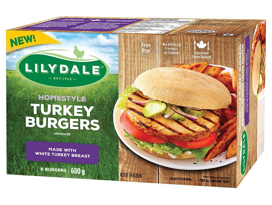 Homestyle Turkey Burgers