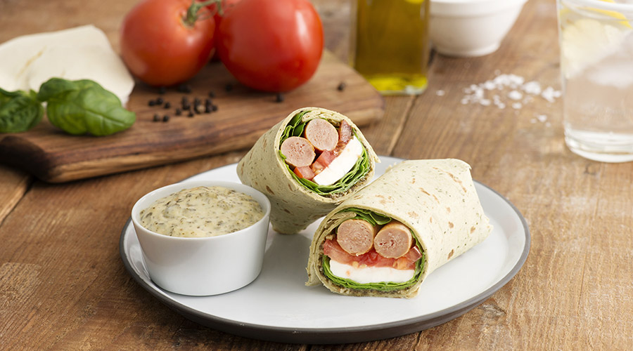 Chicken Sausage Caprese Wrap