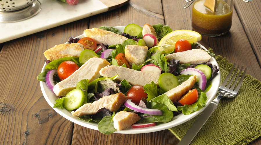 Field Greens with Turkey and Lemon Balsamic Dressing