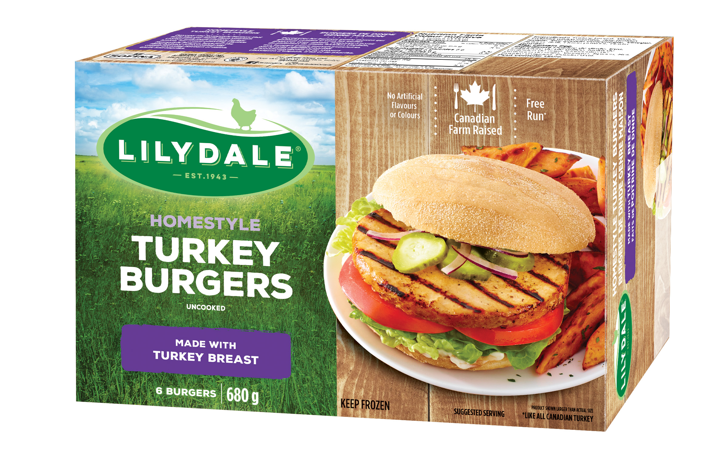 Homestyle Turkey Burgers