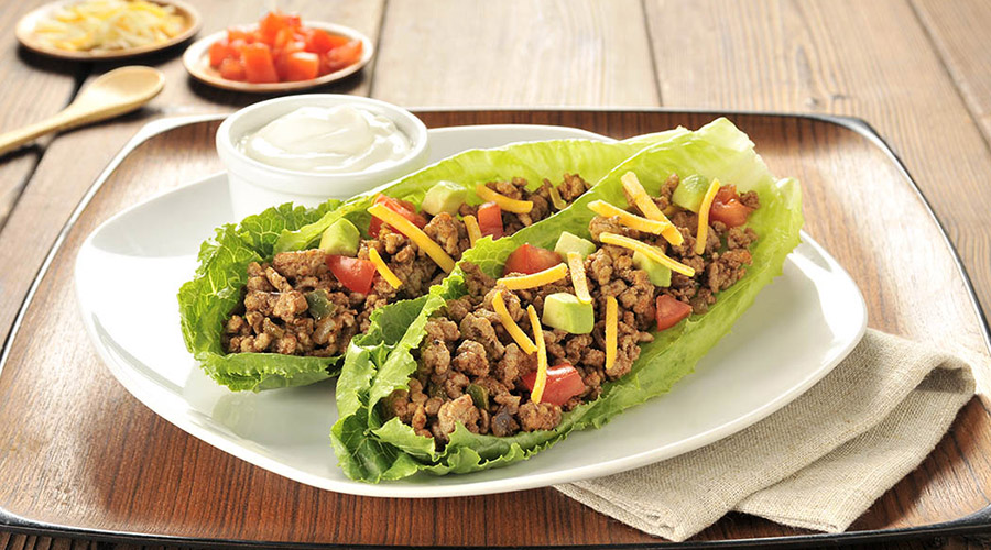 Tacos à la dinde épicée et à la laitue