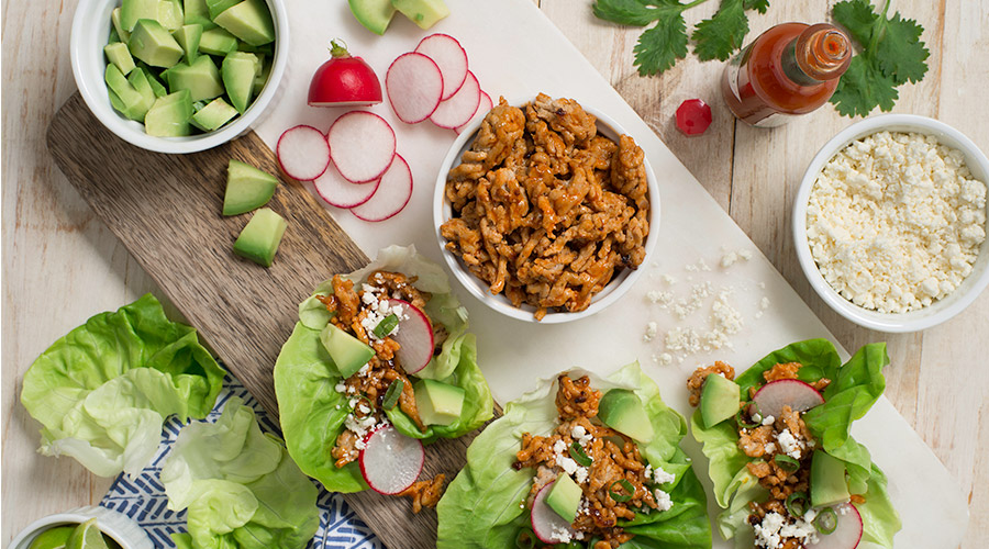 Tex-Mex Turkey Taco Lettuce Cups