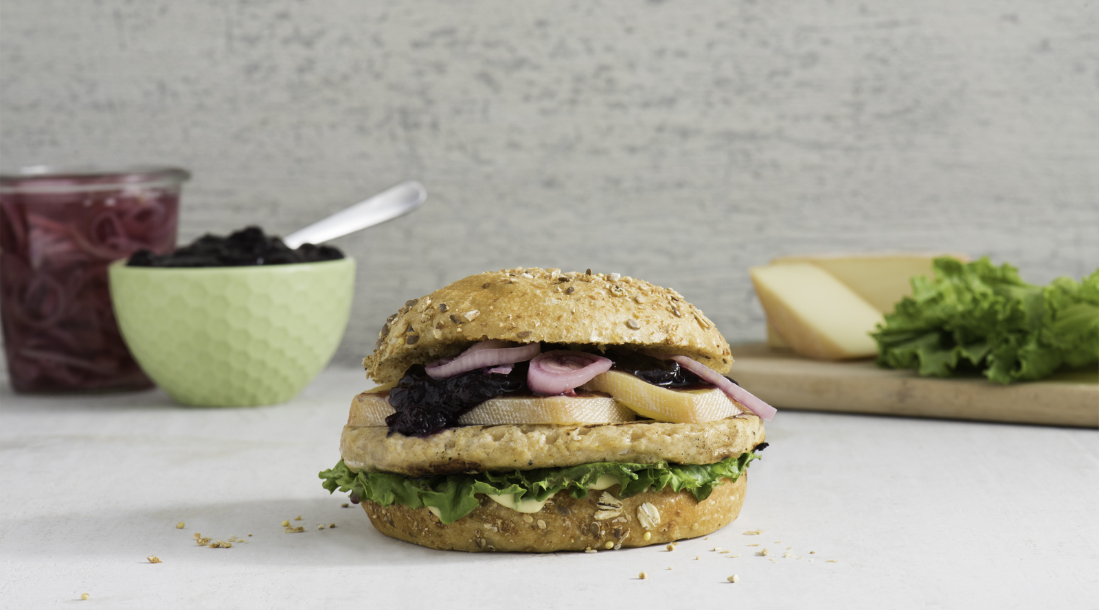 Grilled Turkey Burgers with Blueberry Ketchup