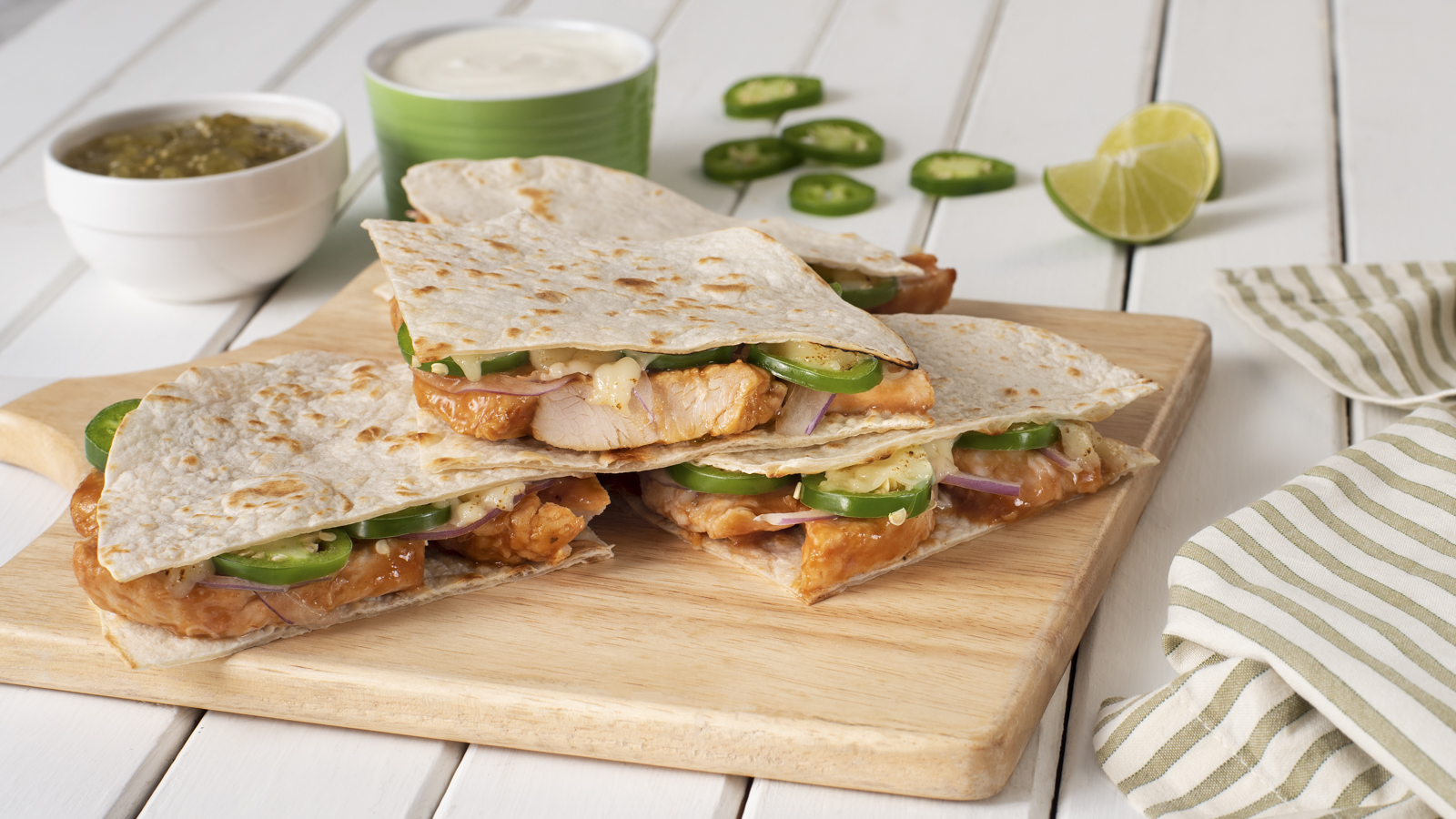 Turkey Carnitas Quesadillas