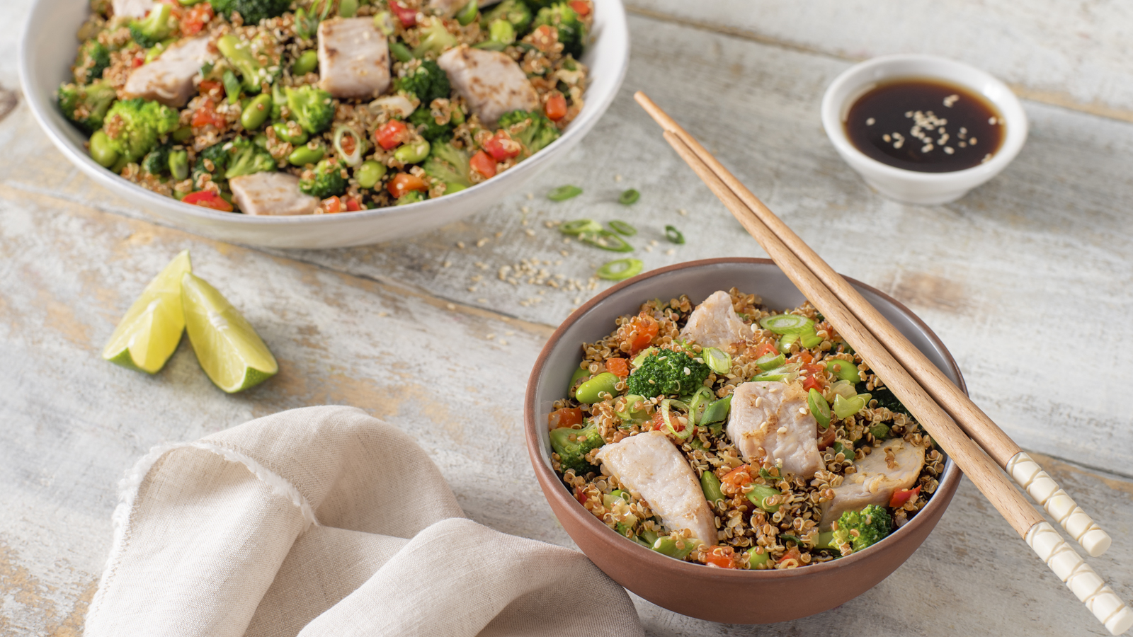 Turkey Quinoa Fried Rice